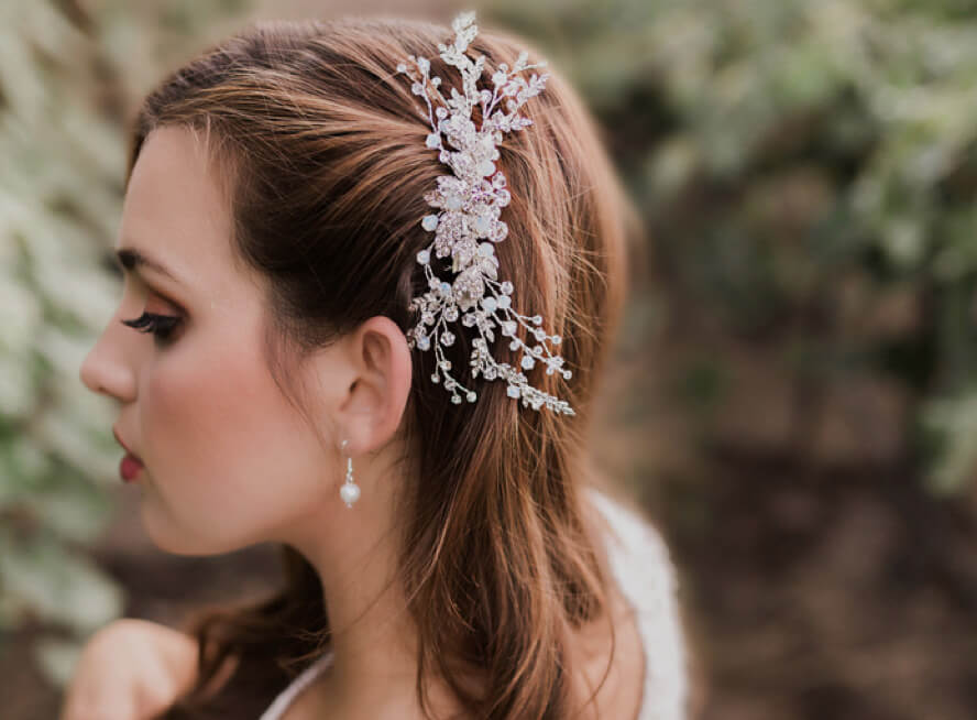 Photo of bridal accessories in detail